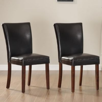 423-006 - HomeBasica Collection Dark Brown Dining Chair - Set of Two
