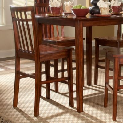 "423-014 - HomeBasica Collection 24"" Burnished Cherry Counter Height Chair - Set of Two"