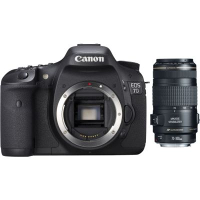 423-157 - Canon 3814B004L2-KIT EOS 7D 18MP Dig SLR Cmra Body, EF 70-300mm Tele. Zm Lens