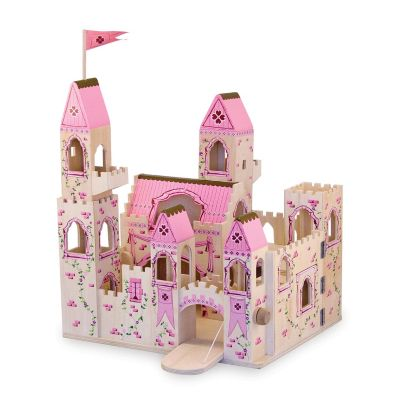 423-193 - Melissa & Doug® Deluxe Wooden Folding Princess Castle