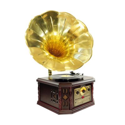 423-431 - Pyle PVNP4CD Horn Phonograph w/ Turntable-CD, Cassette, AM/FM, Aux-In & USB-to-PC Recording