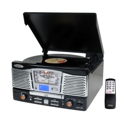 423-461 - Pyle PTCD8UB Retro Style Turntable w/ CD/Radio/USB/SD/MP3/WMA & Vinyl-to-MP3 Encoding
