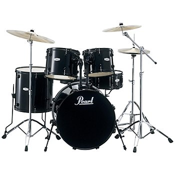 423-581 - Pearl Forum Five Piece Drum Set w/ Hardware & Cymbals