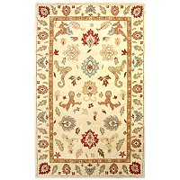4.75 X 7.5 PERSIAN-STYLE HIGH LOW LOOPED WOOL RUG