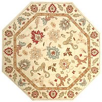6 X 6 OCTAGON PERSIAN-STYLE HIGH LOW LOOPED WOOL RUG