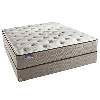 "Simmons_ BeautySleep_ ""Cohill"" Plush Eurotop Mattress Set - Queen"