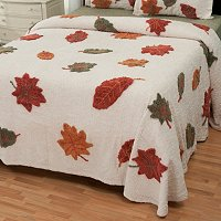 "North Shore Linens ""Autumn Leaves"" Chenille Bedspread"