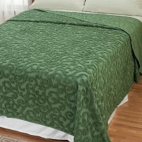 "North Shore Linens ""Scroll"" Chenille Bedspread"