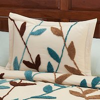 "North Shore Linens ""Wandering Vines"" Chenille Sham"