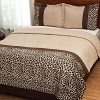 """Leopard"" 4pc Comforter Set"