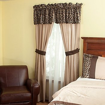 429-129 - North Shore Linens™ ''Leopard'' Five-Piece Window Set