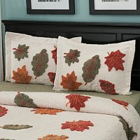 "North Shore Linens ""Autumn Leaves"" Chenille Sham"