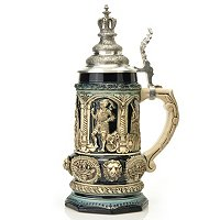 THEWALT 1893 - MEDIEVAL KING'S STEIN W/ CROWN LID