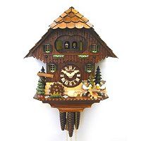 1-DAY MUSIC DOUBLE BEER DRINKER CUCKOO CLOCK