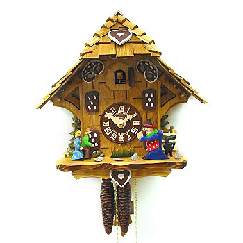 429-197 - Hubert Herr Hansel & Gretel Fairy Tale One-Day Hand Crafted Cuckoo Clock