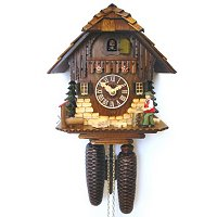8-DAY MOVING WOODCHOPPER CUCKOO CLOCK