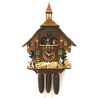 8-DAY BLACK FOREST FARMER CUCKOO CLOCK