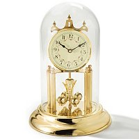 QUARTZ ALL BRASS INCLUDING BACK PLATE AND PENDULUM, GARLAND DIAL