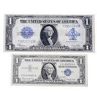 1923 &1957 US DOLLAR SILVER CERTIFICATE LARGE AND SMALL NOTES