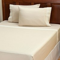 "Cozelle ""Sorrento"" Lace 4pc Sheet Set"