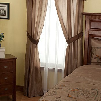 429-570 - North Shore Linens™ ''Golden Butterfly'' Four-Piece Window Set