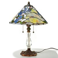 CONFETTI GLASS TABLE LAMP W/ CRYSTAL BASE