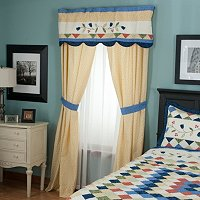 """High Falls"" Valance and Drapery Panel Pair"