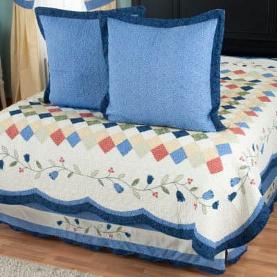 "429-599 - North Shore™ Collectible Quilts ""High Falls"" Euro Sham Pair & Bed Skirt Set"