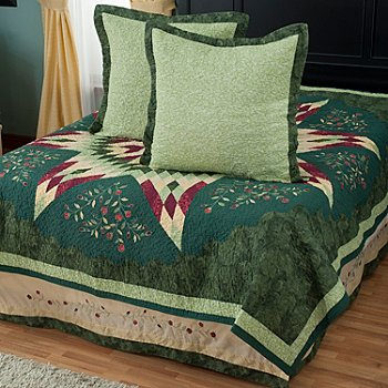 429-603 - North Shore™ Collectible Quilts ''Neptune Star'' Euro Sham Pair & Bed Skirt Set