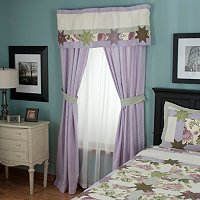 """Twilight Garden Valance and Drapery Panel Pair"