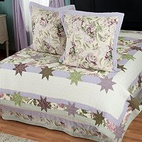 """Twilight Garden Euro Sham Pair and Bedskirt Set"