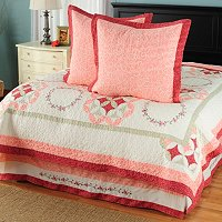 """Aria"" Euro Sham Pair and Bedskirt Set"