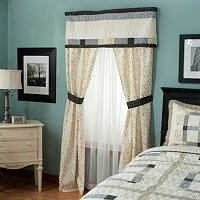 """Townhouse"" Valance and Drapery Panel Pair"