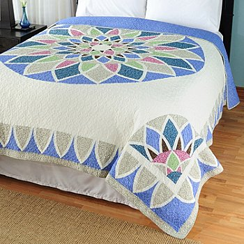 429-623 - North Shore™ Collectible Quilts ''Kaleidoscope'' Limited Edition 100% Cotton Bedspread