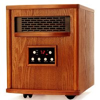 LifeSmart Portable 1500W Quartz Infrared Oak Heater