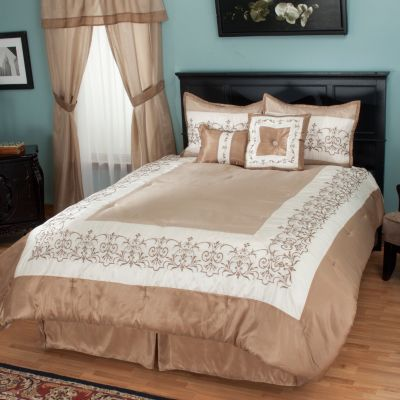 "429-731 - North Shore Linens™ ""Kingstone"" 16-Piece Bedding Ensemble"
