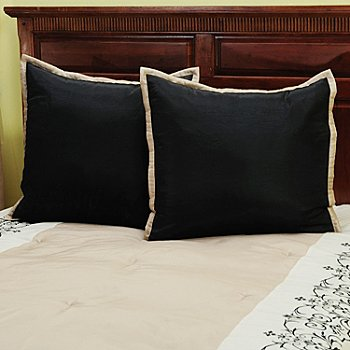429-733 - North Shore Linens™ ''Kingstone'' Euro Shams - Set of Two