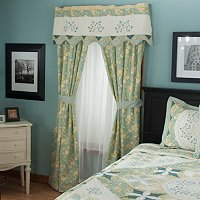 """Meadow Song"" Valance and Drapery Panel Pair"