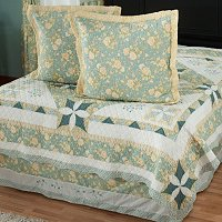 """Meadow Song"" Euro Sham Pair and Bedskirt Set"
