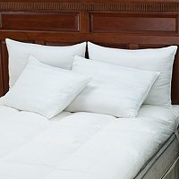 North Shore Linens Set of 4 300tc Cotton Damask Stripe Pillows