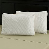 North Shore Linens Polyester and Tencel Gusseted Fiber Pillow Pair