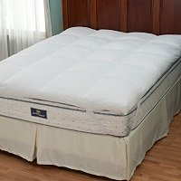 "North Shore Linens Nano-Tex 3"" Gusseted Down Top Featherbed"