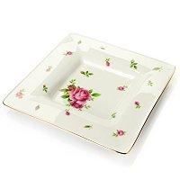 ROYAL ALBERT NEW COUNTRY ROSES WHITE SQUARE TRINKET TRAY
