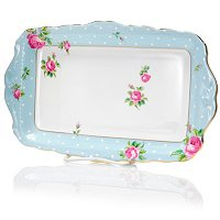 Royal Albert Polka Rose Blue Sandwich Tray