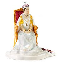 Royal Doulton Queen Elizabeth II Jubilee Coronation Figurine