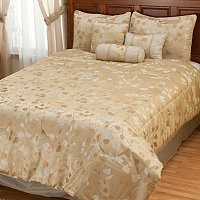 """Tonal Leaf"" 7pc Comforter Set"