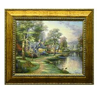"THOMAS KINKADE ""HOMETOWN SERIES"" TEXTURED PRINT"