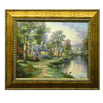 429-951 - Thomas Kinkade ''Hometown Series'' 20'' x 16'' Textured Framed Print