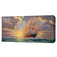 "THOMAS KINKADE "" COURAGEOUS VOYAGE"" PANORAMIC GALLERY WRAP"