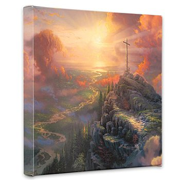 429-985 - Thomas Kinkade ''The Cross'' 14'' Gallery Wrap